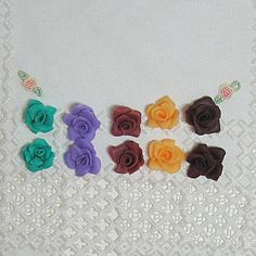 HandmadeRosesColdPorcelainClaySuppliesForEarringsCuffsNecklaces by CheriesPottery, $12.00