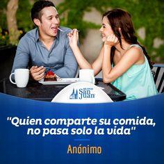 """""""Quien comparte su comida, no pasa solo la vida"""" #FrasesGastronómicas #HuevoSanJuan"""
