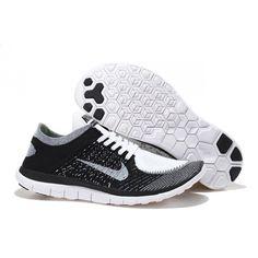 Nike Free Flyknit 4.0 Scarpa da Running - Unisex - Nero/Grigio/Bianco