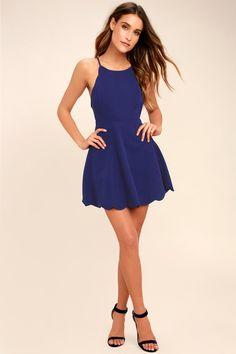 Play On Curves Royal Blue Backless Dress 8