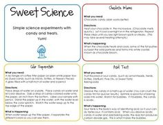 Sweet Science: Simple Experiments with Candy free