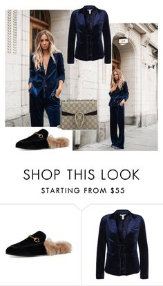 """""""blue velvet"""" by filippakjellberg ❤ liked on Polyvore featuring Gucci, Olsson and NLY Trend"""