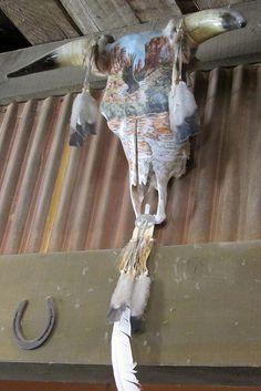 Cattle skull decor