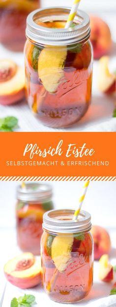 Selbstgemachter Pfirsich Eistee: Perfekte Erfrischung an heißen Tagen!