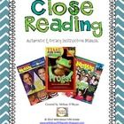 Get your students closely reading and writing about text!  This product outlines for teachers how to implement close reading authentic literacy ins...