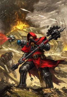 curse-your-gods-and-die:  Ad Mech at Work by ameeeeba