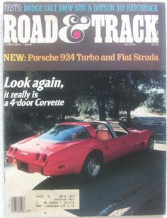 vintage Road and Track magazine February 1978
