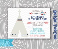 Pow Wow Party  Pow Wow Birthday  TeePee by PickleNoodleBoutique, $16.00