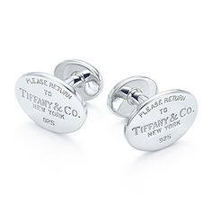 Return to Tiffany™ cuff links in sterling silver.