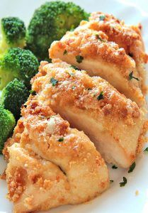 HEALTHY BAKED PARMESAN CHICKEN