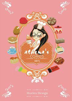 店名 athena's cakes 法式甜美風  包裝是一種有趣的玩法,設計是為了讓整體更完整,也是身為創作者的價值!!