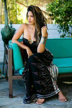 Designer Bohemian dresses by Natalie Martin, Spell & the Gypsy Collective and Magali Pascal. Silk slip dresses by Little Joe Woman. Rachel Barnes, Boho Fashion, Girl Fashion, Flamingo Dress, Exotic Women, Friends, Hippie Chic, Boho Chic, Gypsy Chic