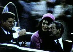 "Here are three still frames from another ""new"" amateur film of the Dallas  motorcade, which was discovered for the first time in early November 2013.  This short color film was taken by Andre Leche on the north side of Main Street  just a few minutes prior to the assassination. Leche's footage shows JFK  engaging in conversation with Governor John Connally, who is turning  around in his seat to look at the President:"