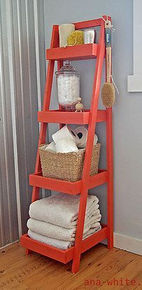 Use ladders for shelves or racks for a more striking look. | 21 Cheap And Easy Decorating Tricks For Renters