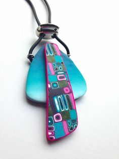 Mabcrea's blog polymer clay necklace as featured in Pate Polimere