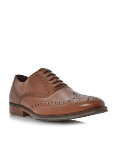 Linea Rallys oxford lace up brogues, Tan