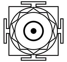 Mandala blank with sun symbol