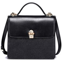 Textured Panel Flapped Handbag ($59) ❤ liked on Polyvore featuring bags, handbags, tote bags, handbag purse, flap purse, tote bag purse, tote hand bags and purse tote bag