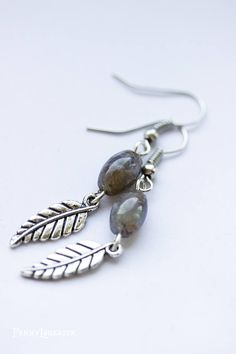 Natural Colour Gemstone Beaded Drop Earring Jewelry Silver