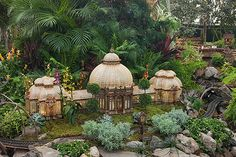 Enid A. Haupt Conervatory in miniature at the Holiday Train Show, via Holiday Train Show, Field Day, Fairy Land, Tropical Garden, Travel Goals, Botanical Gardens, Miniatures, Aquariums, Conservatory