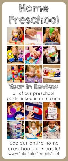 Home Preschool Ideas ~ an entire year of homeschool preschool, links to all posts!