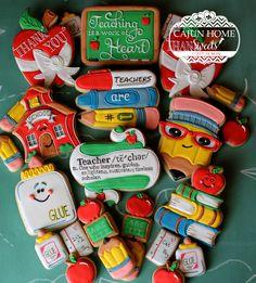 Teacher Appreciation Cookies by Cajun Home Sweets.
