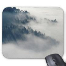 Fog and Mountain Mouse Pad