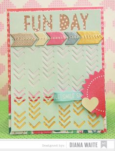 Diana Waite for American Crafts Amy Tangerine Cut and Paste Get the collection at #craftysteals
