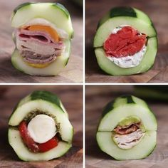 Cucumber Subs 4 Ways