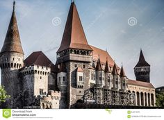 Photo about Old castle in Romania, Hunedoara. Image of clouds, island, flower - 64071876 Romania, Barcelona Cathedral, Vectors, Castle, Louvre, Cold, Sign, Stock Photos, Landscape