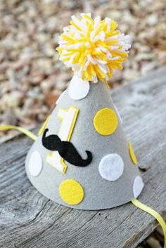 Boys Birthday Mustache Party Hat - Boys First Birthday Polkadot Hat - Cake… Little Man Party, Little Man Birthday, Boy First Birthday, First Birthday Parties, Birthday Party Hats, Birthday Party Decorations, Elmo Party, Elmo Birthday, Mickey Party