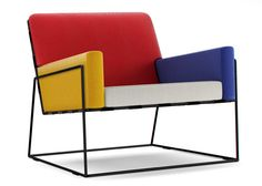 Moooi combine bold colour blocking and simplistic lines in this early modernist inspired design