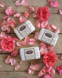 handmade soaps scented with 100% pure essential oil from the little market