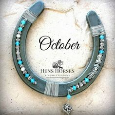 Personalized Birthstone Horseshoe October One Name Hens Horses & Homesteading
