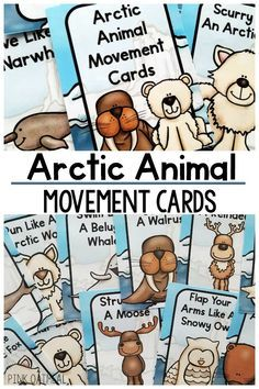 A great arctic gross motor activity. The perfect way to move with your arctic theme. Great for a classroom, therapy, or home. Make your arctic unit fun by adding movement like the arctic animals. Movement Activities, Gross Motor Activities, Animal Activities, Preschool Activities, Winter Activities, Animal Crafts, January Preschool Themes, Preschool Winter, Preschool Curriculum