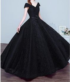 Marvelous Lace V-neck Neckline Ball Gown Quinceanera Dresses with Handmade Flower, Shop plus-sized prom dresses for curvy figures and plus-size party dresses. Ball gowns for prom in plus sizes and short plus-sized prom dresses for Gold Prom Dresses, Prom Dresses For Sale, Black Wedding Dresses, Formal Evening Dresses, Evening Gowns, Bridesmaid Dresses, Black Quinceanera Dresses, Luulla Dresses, Deidara Wallpaper