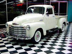 *Classic white Chevy Truck