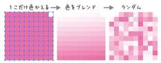 カラーを編集を使って複数の色をランダムに塗る | 鈴木メモ