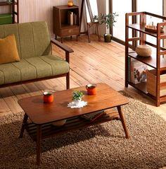 ウォールナット北欧レトロ家具5種|おしゃれインテリアローテーブル|ワンルーム収納【reemo】ワンルーム用インテリア