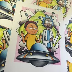 Rick and Morty print on 8.5x11 card stock. perfect for your wall.