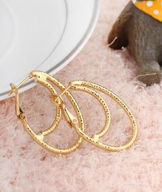 Fashion Special Design Hoop Earrings Copper Earring Three Colors for Women