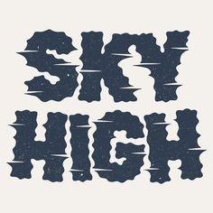 jvnk:  Sky High Lettering by Damian King