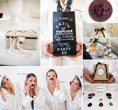 Chic Pajamas & Pearls Oscar Party // Hostess with the Mostess® Hen Night Ideas, Hens Night, Movie Party, Party Time, Hens Party Themes, Party Ideas, Book Club Parties, Pearl Party, Pamper Party