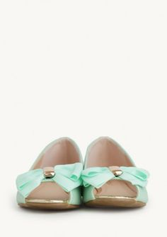 Dolly Bow Flats In Mint | Modern Vintage New Arrivals