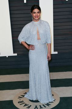 Pin for Later: 21 Reasons Priyanka Chopra Is the Style Star to Watch Right Now Wear What You Love Priyanka went with her fashion gut when she selected a gorgeous Jenny Packham gown for the 2016 Vanity Fair Oscars party.