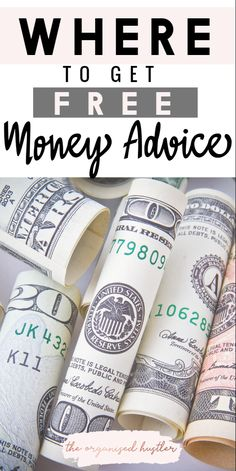 THE BEST PLACES TO FIND FREE MONEY ADVICE. Money Advice Podcasts Money Advice Youtubes Money Advice Instagrams Money Advice Books Budgeting and saving advice for free. The Organised Hustler