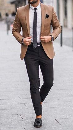 Blazers For Men Casual, Blazer Outfits Casual, Stylish Mens Outfits, Business Casual Men, Vest Outfits, Business Suits Men, Stylish Clothes For Men, Blue Blazers, Men's Business Outfits