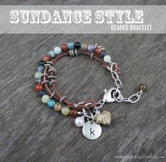 Sundance Style Beaded Bracelet | How To Make Cool DIY Beaded Bracelets and Other DIY Bracelet Kits By DIY Ready. http://diyready.com/diy-beaded-bracelets-you-should-be-making/#