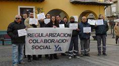 Los trabajadores en colaboración social, exigen una solución a su situación