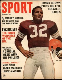 December 1964 Sport Magazine With Jim Brown Cleveland Browns Cover EX